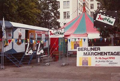 "Im September fanden die ""1. Berliner Märchentage"" im JUXIRKUS-Zelt statt"